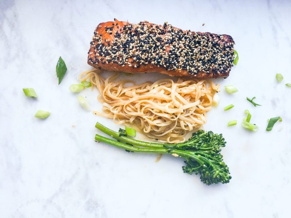 Spicy Rice Noodles & Broccolini