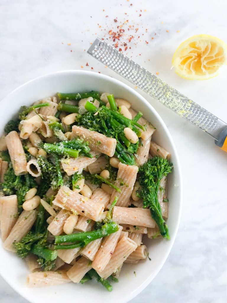 lemon, white bean & broccolini pasta