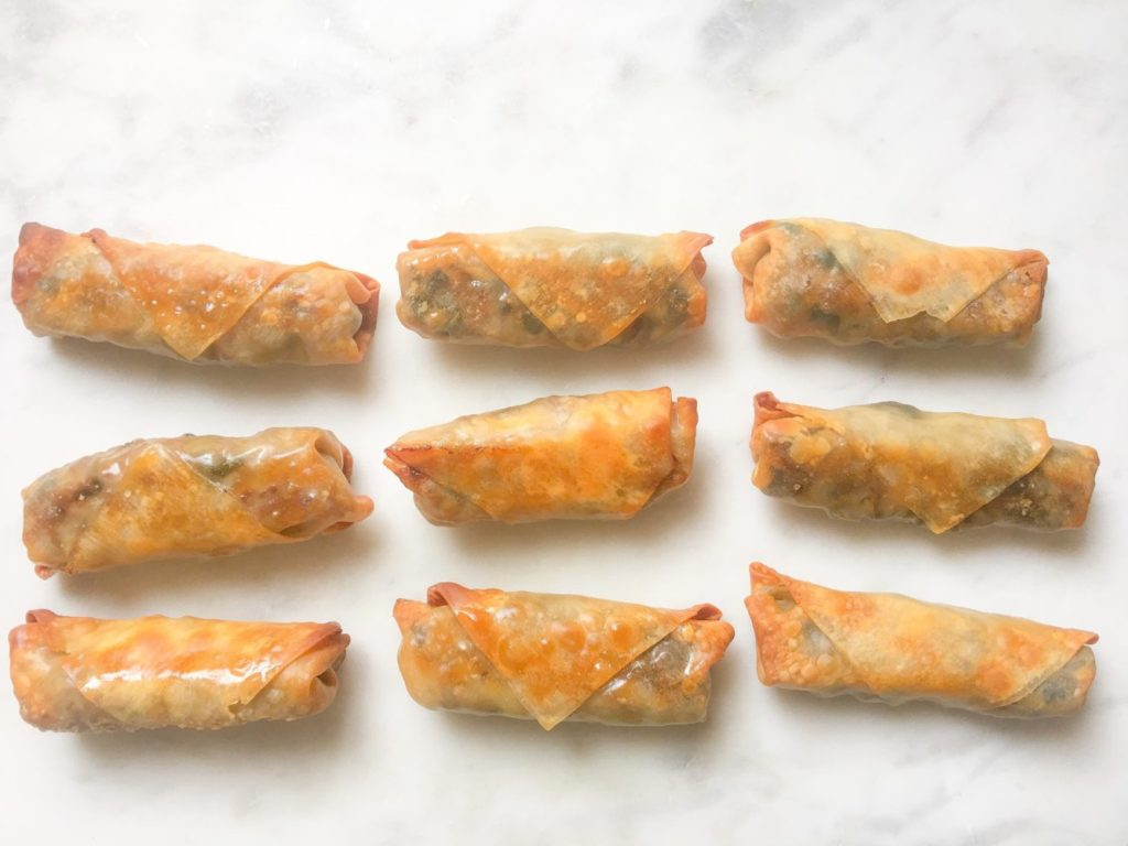 megs cucina baked spring rolls