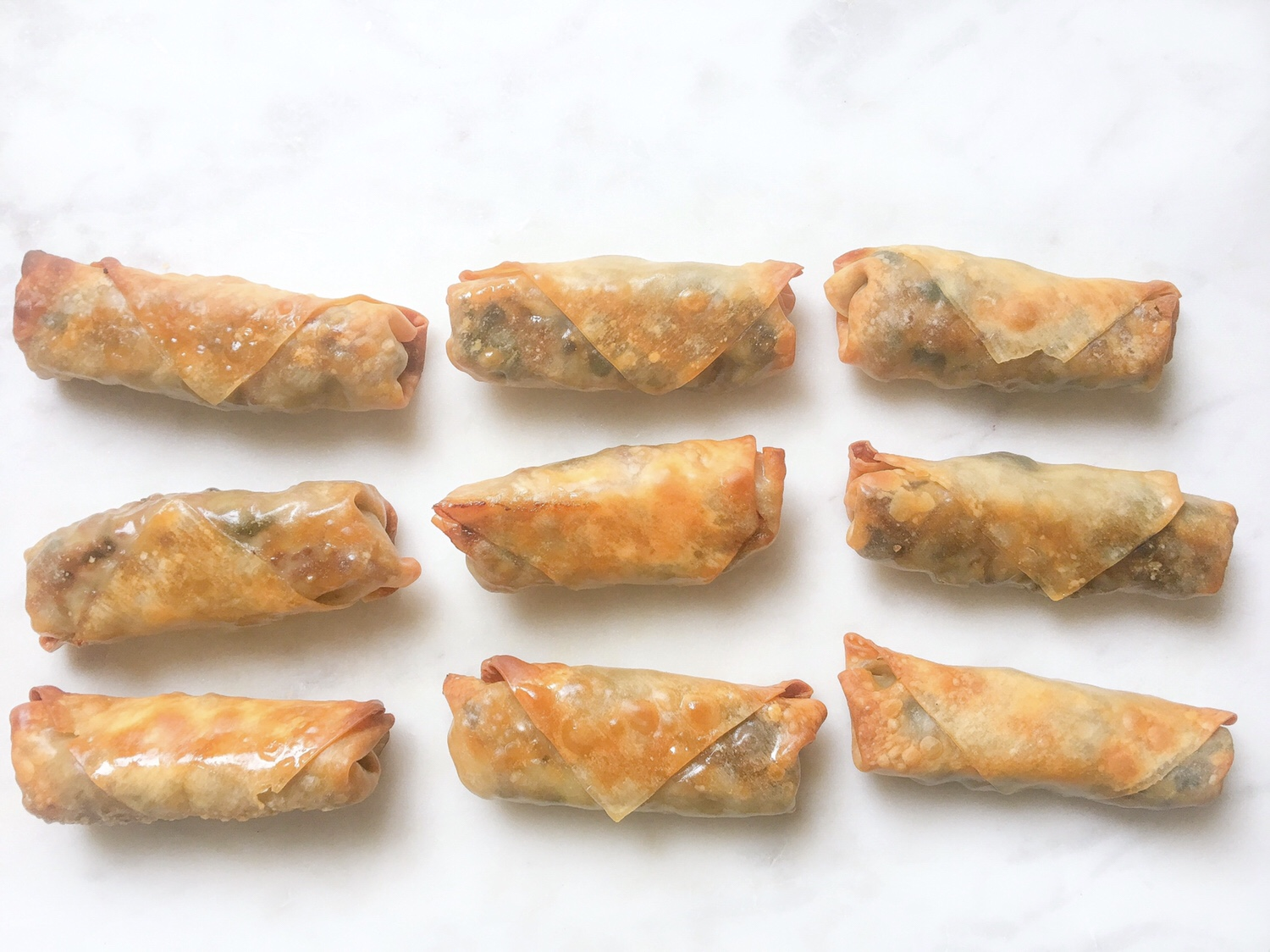 Baked Chicken (or Veggie) Spring Rolls