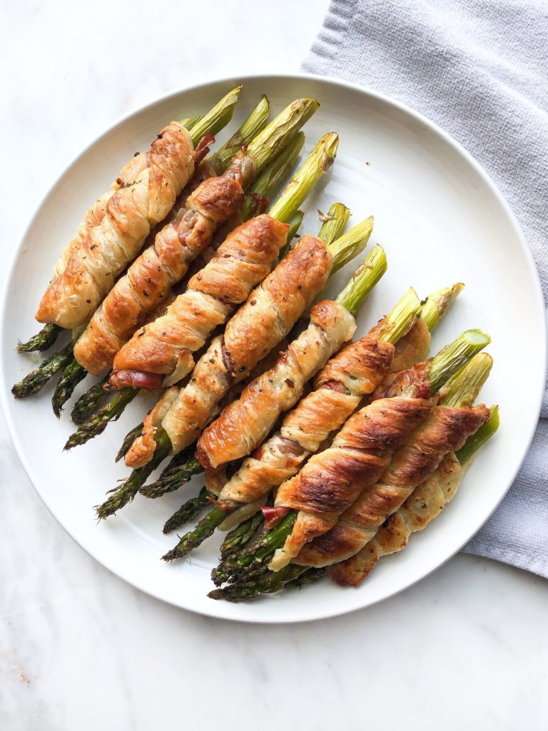 megs cucina prosciutto phyllo wrapped asparagus
